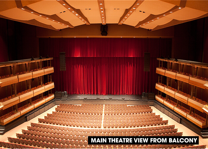 Visit us centre in the square for Open balcony in a theatre