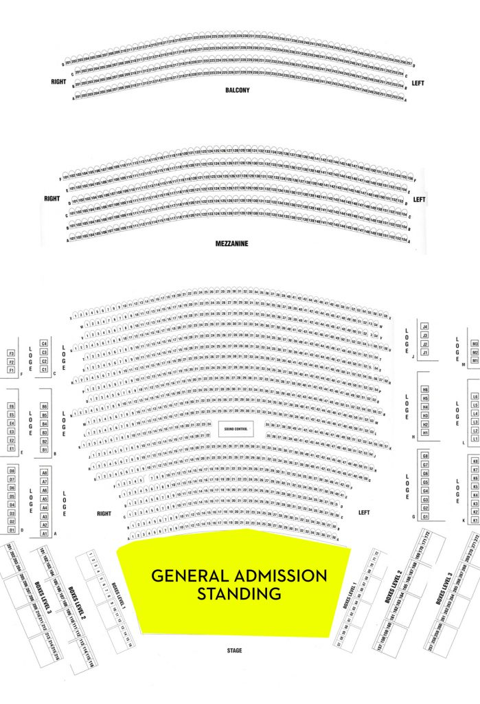 Glorious Sons Seating Chart With General Admission Section